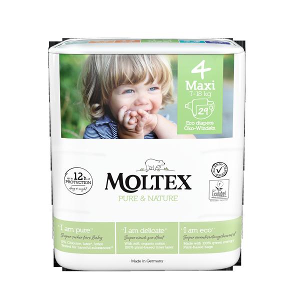 """Moltex Nature no.1"" ekoloģiskās autiņbiksītes, 4 Maxi"