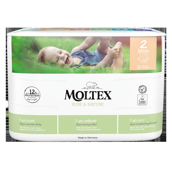 """""""Moltex Nature no.1"""" ekoloģiskās autiņbiksītes, 2 MINI"""
