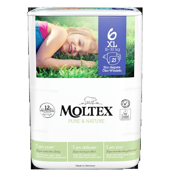 """""""Moltex Nature no.1"""" ekoloģiskās autiņbiksītes, 6 XL"""